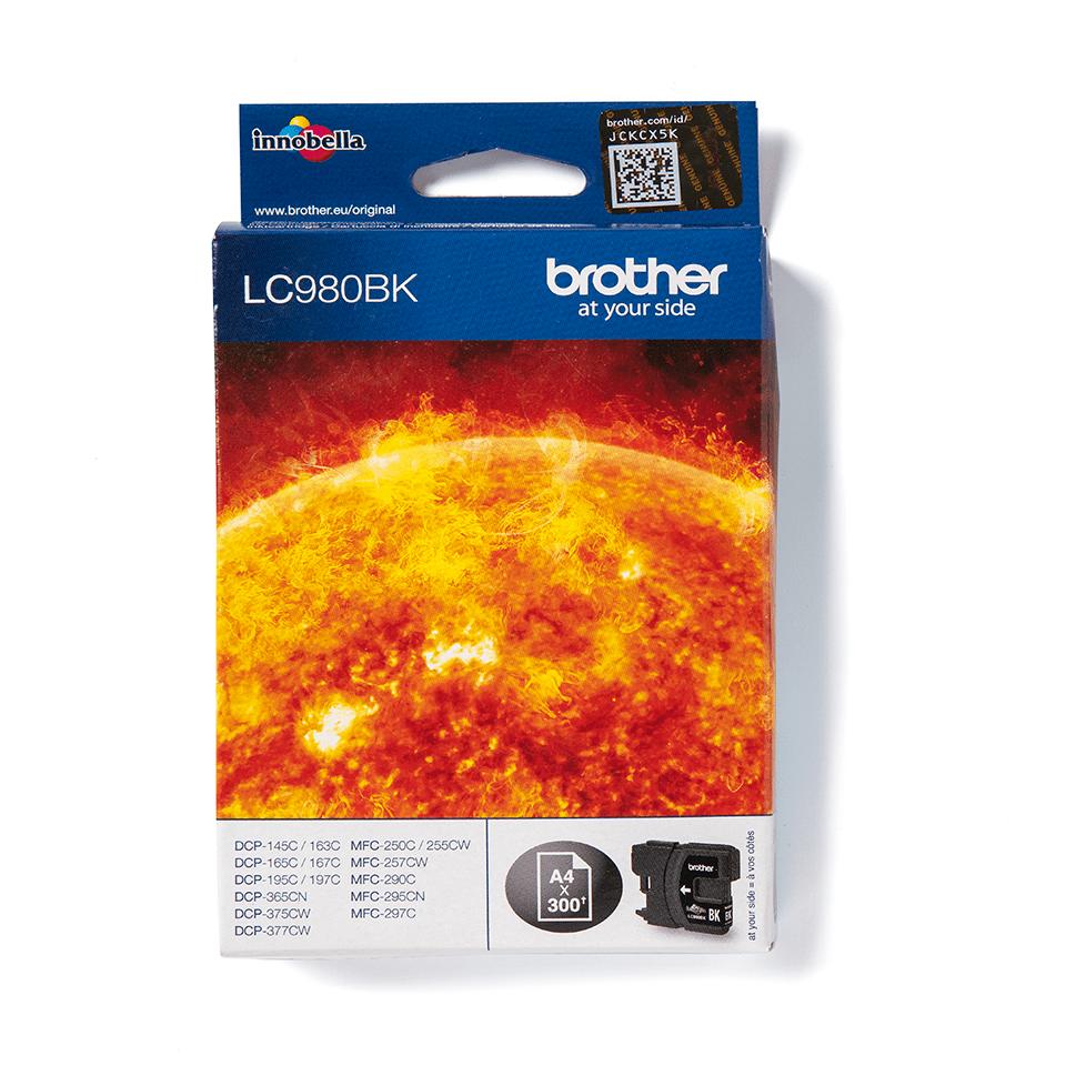 Oriģināla Brother LC980BK tintes kasetne – melna