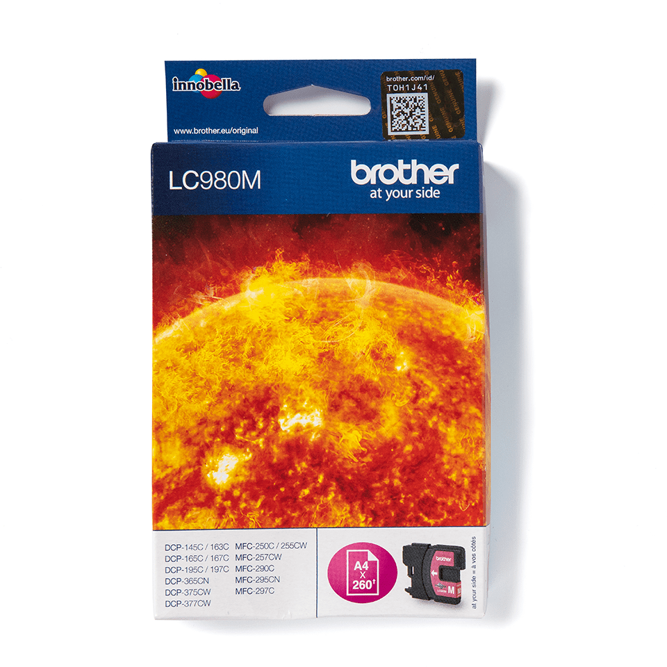 Genuine Brother LC980M Ink Cartridge – Magenta