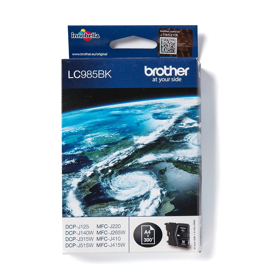 Oriģināla Brother LC985BK tonera kasetne, melna