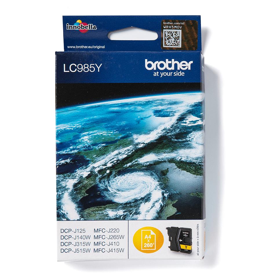 Oriģināla Brother LC985Y tonera kasetne, dzeltena