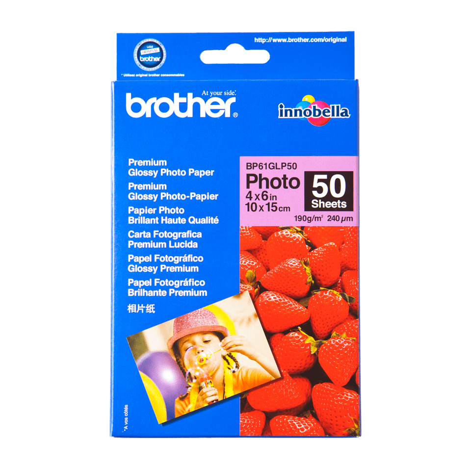 Genuine Brother BP61GLP50 Glossy 10cm x 15cm Photo Paper