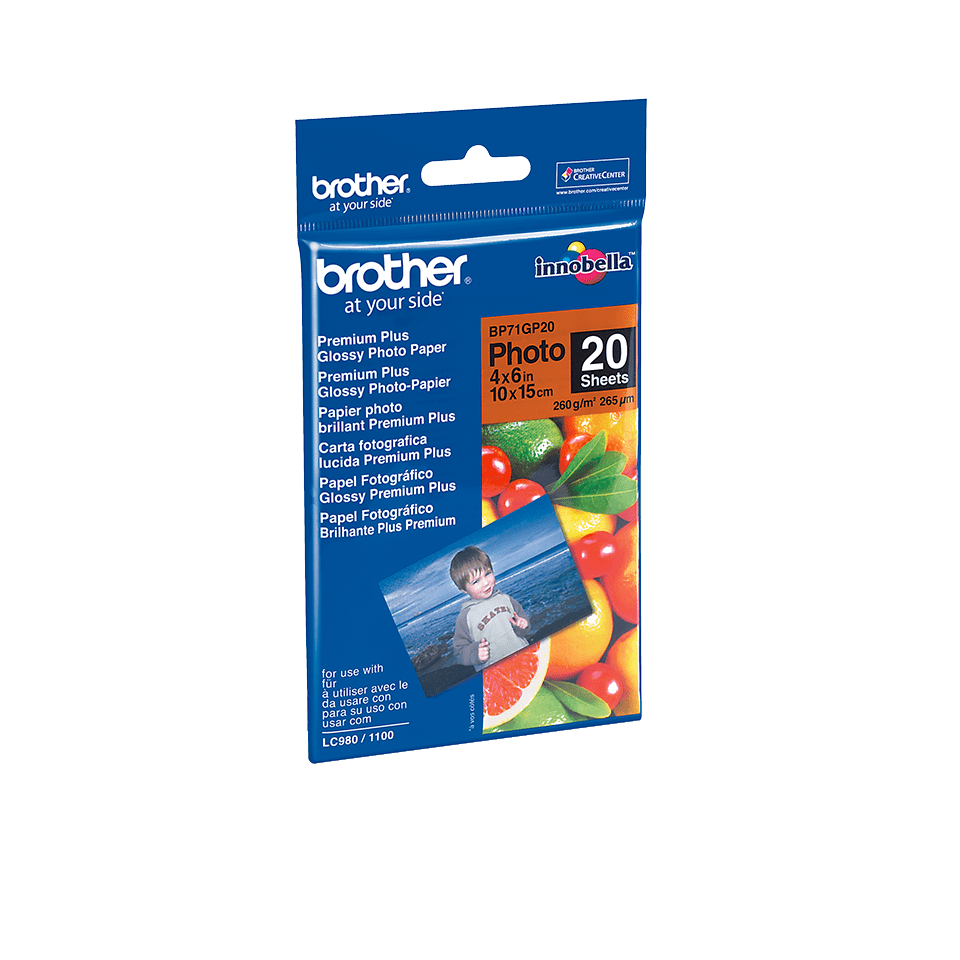 Genuine Brother BP71GP20 Glossy 10cm x 15cm Photo Paper