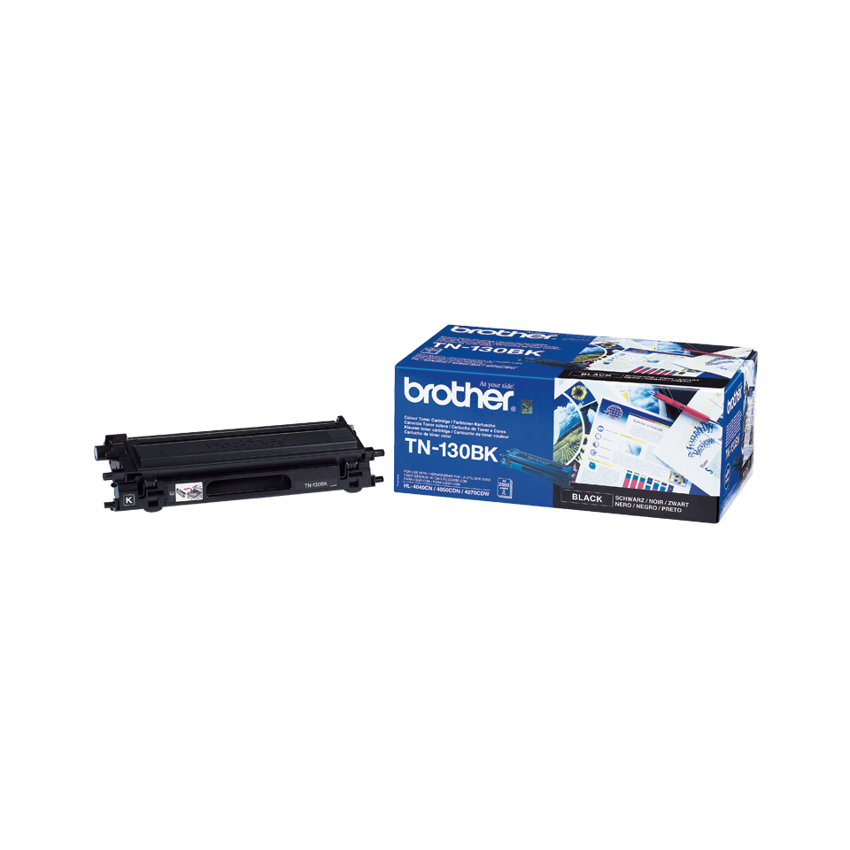 Oriģinālā Brother TN130BK tintes kasetne, melna