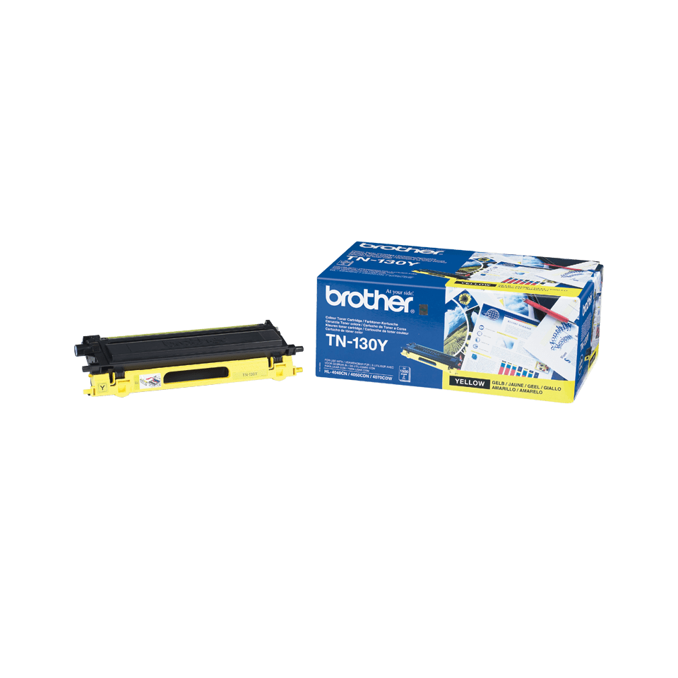 Oriģinālā Brother TN130Y tintes kasetne, dzeltena