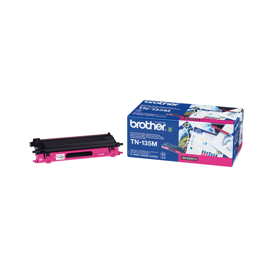 Genuine Brother TN-135M High Yield Toner Cartridge – Magenta