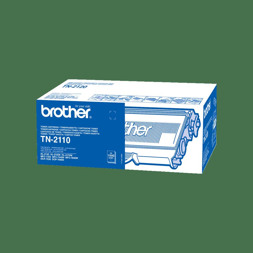 Oriģināla Brother TN2110 tonera kasetne, melna