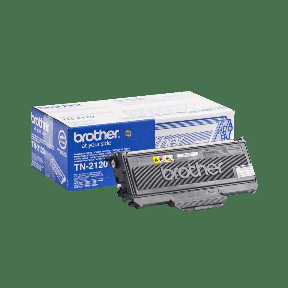 Oriģināla Brother TN-2120 augsta ražīguma tonera kasetne - melna