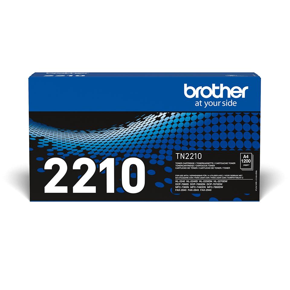 Oriģināla Brother TN-2210 tonera kasetne – melna