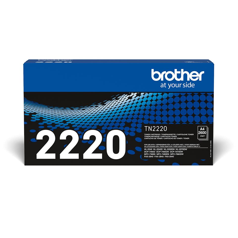 Oriģināla Brother TN2220 augsta ražīguma tonera kasetne - melna