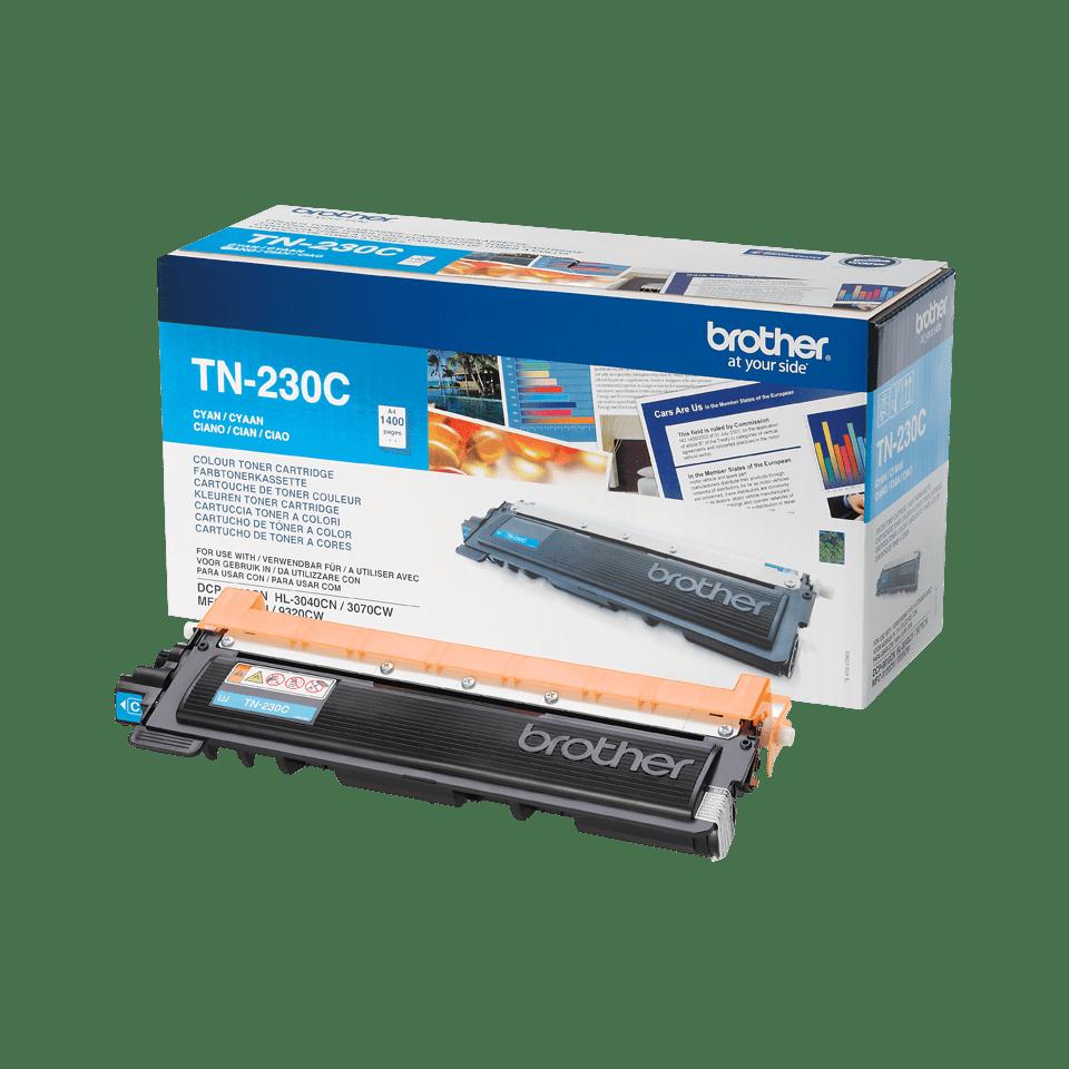 Oriģināla Brother TN230C tonera kasetne – ciāna