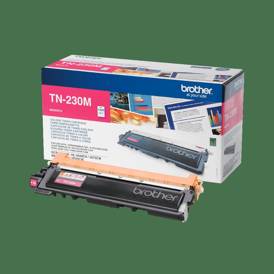 Oriģinālā Brother TN230M tonera kasetne – fuksīna krāsā
