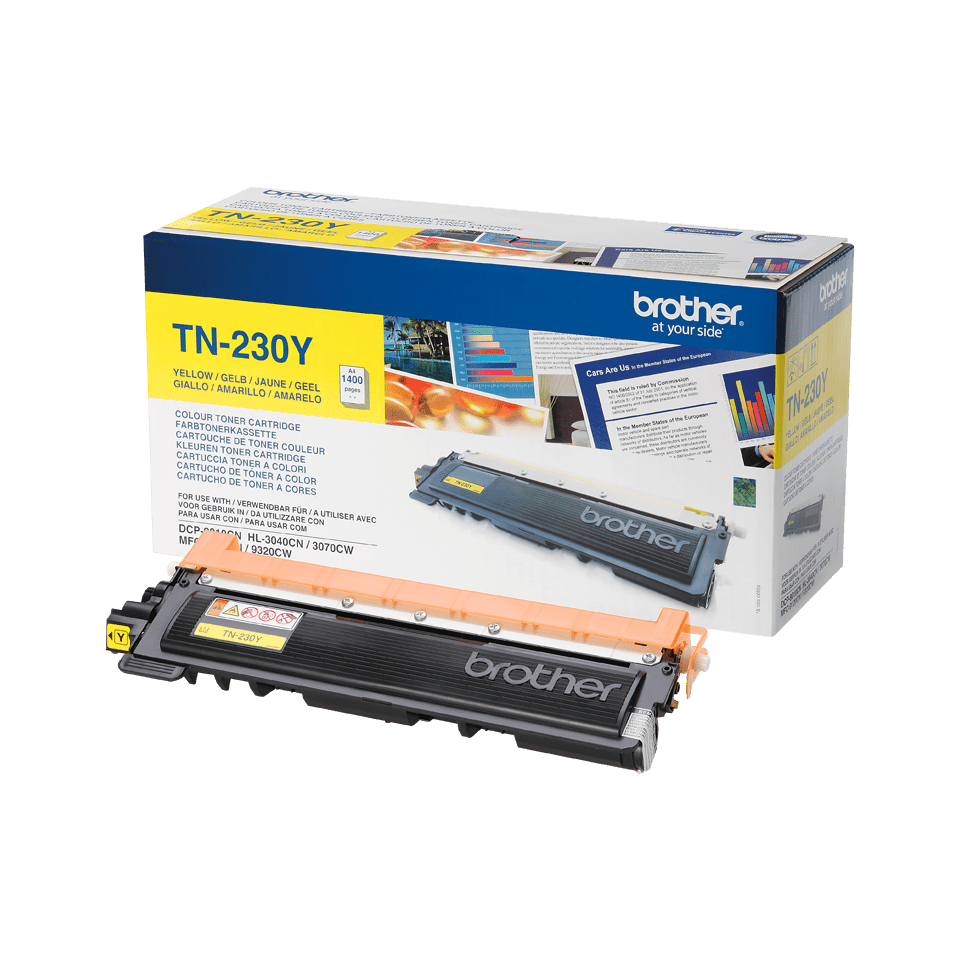 Genuine Brother TN-230Y Toner Cartridge – Yellow