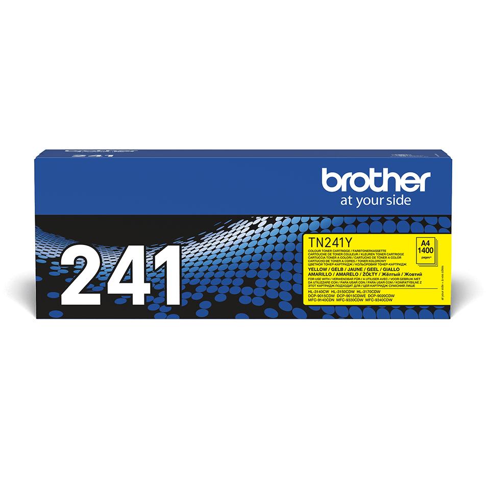 Oriģinālā Brother TN241Y tintes kasetne – dzeltenā krāsā