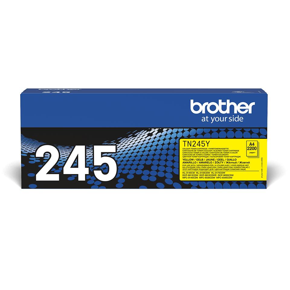 Oriģinālā Brother TN245Y tonera kasetne – dzeltenā krāsā