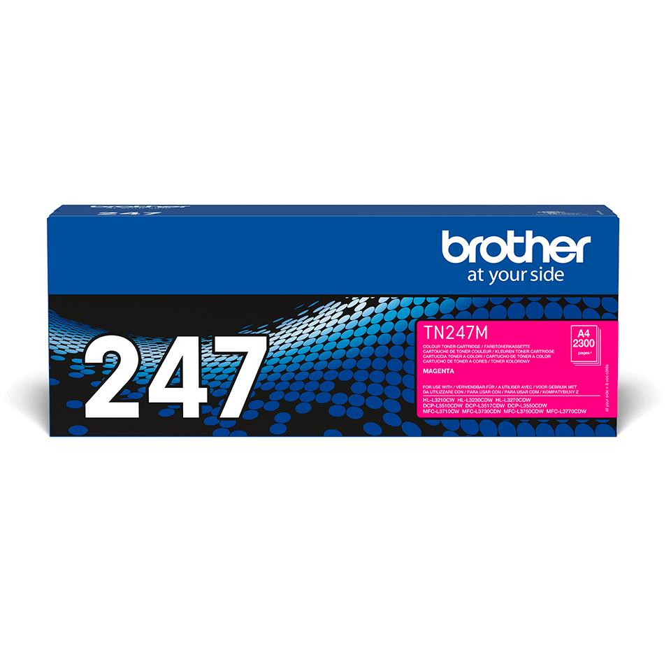 Oriģināla Brother TN-247M tonera kasetne - Fuksīna