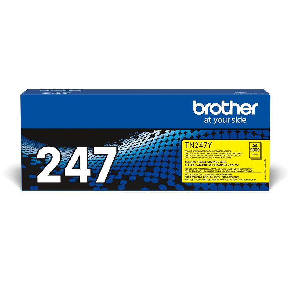 Oriģināla Brother TN-247Y tonera kasetne - dzeltena 2