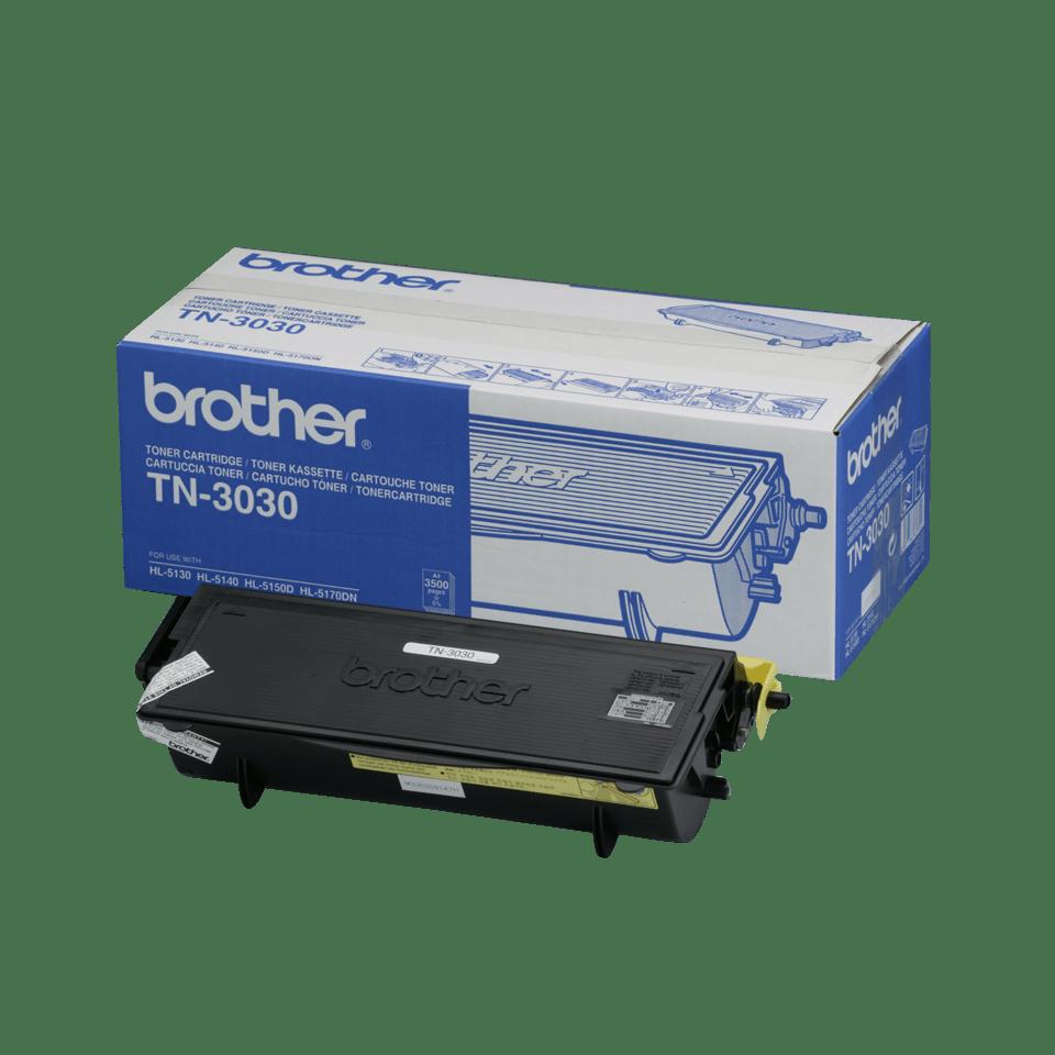 Oriģināla Brother TN3030 augstas ražības printera tonera kasetne, melna