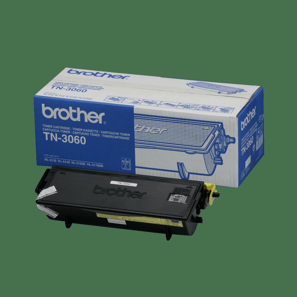Oriģināla Brother TN3060 augstas ražības printera tonera kasetne, melna