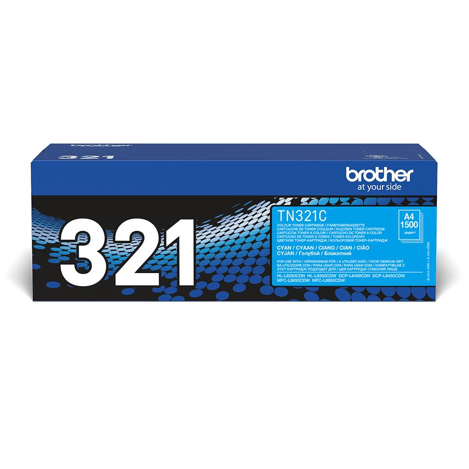 Oriģinālā Brother TN321C tonera kasetne – ciāna krāsā