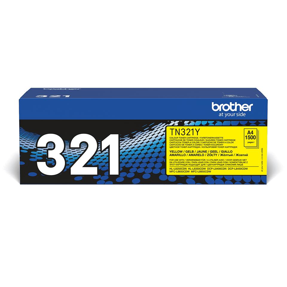 Oriģinālā Brother TN321Y tonera kasetne – dzeltenā krāsā