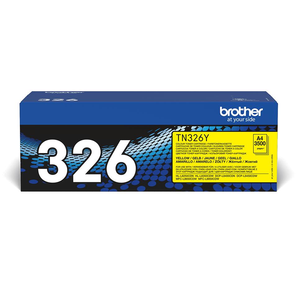 Oriģināla TN-326Y printera tonera kasetne - dzeltena