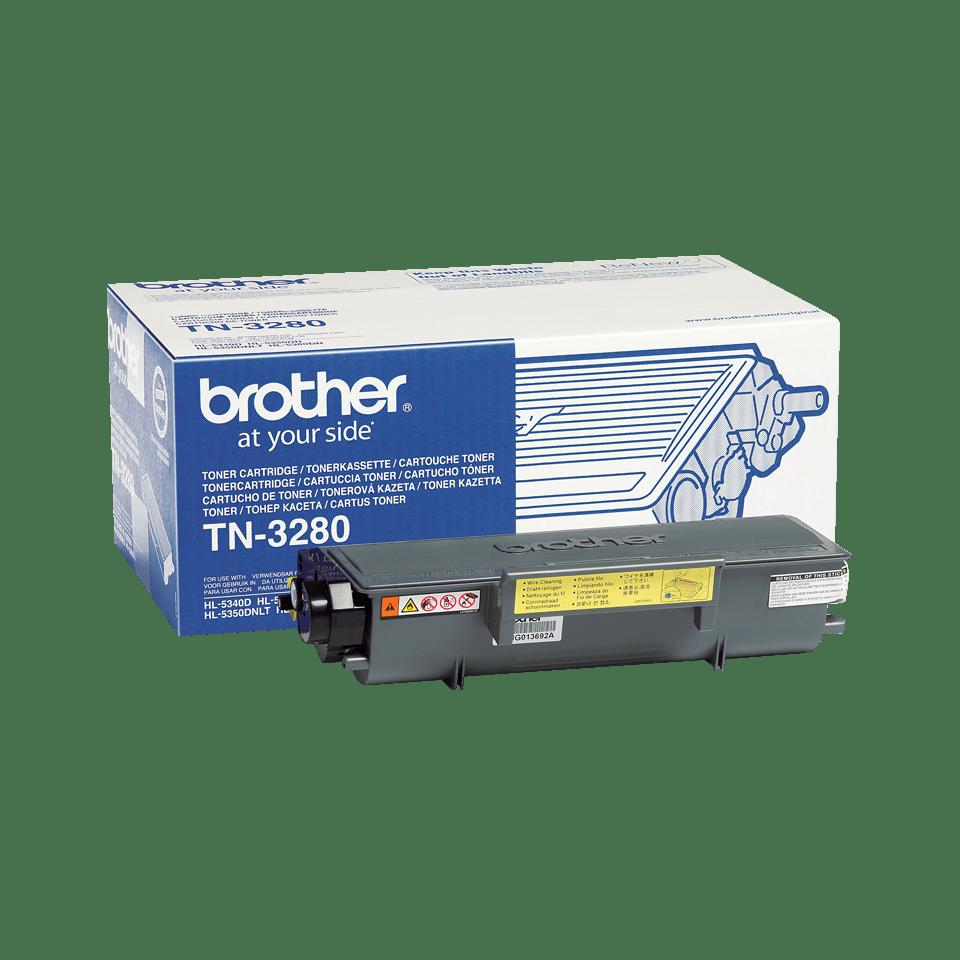 Oriģināla Brother TN-3280 augsta ražīguma tonera kasetne  – melna