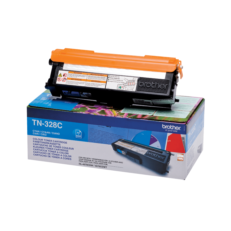 Oriģinālā Brother TN328C tintes kasetne, ciāna
