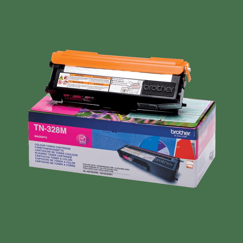 Oriģinālā Brother TN328M tintes kasetne, fuksīna