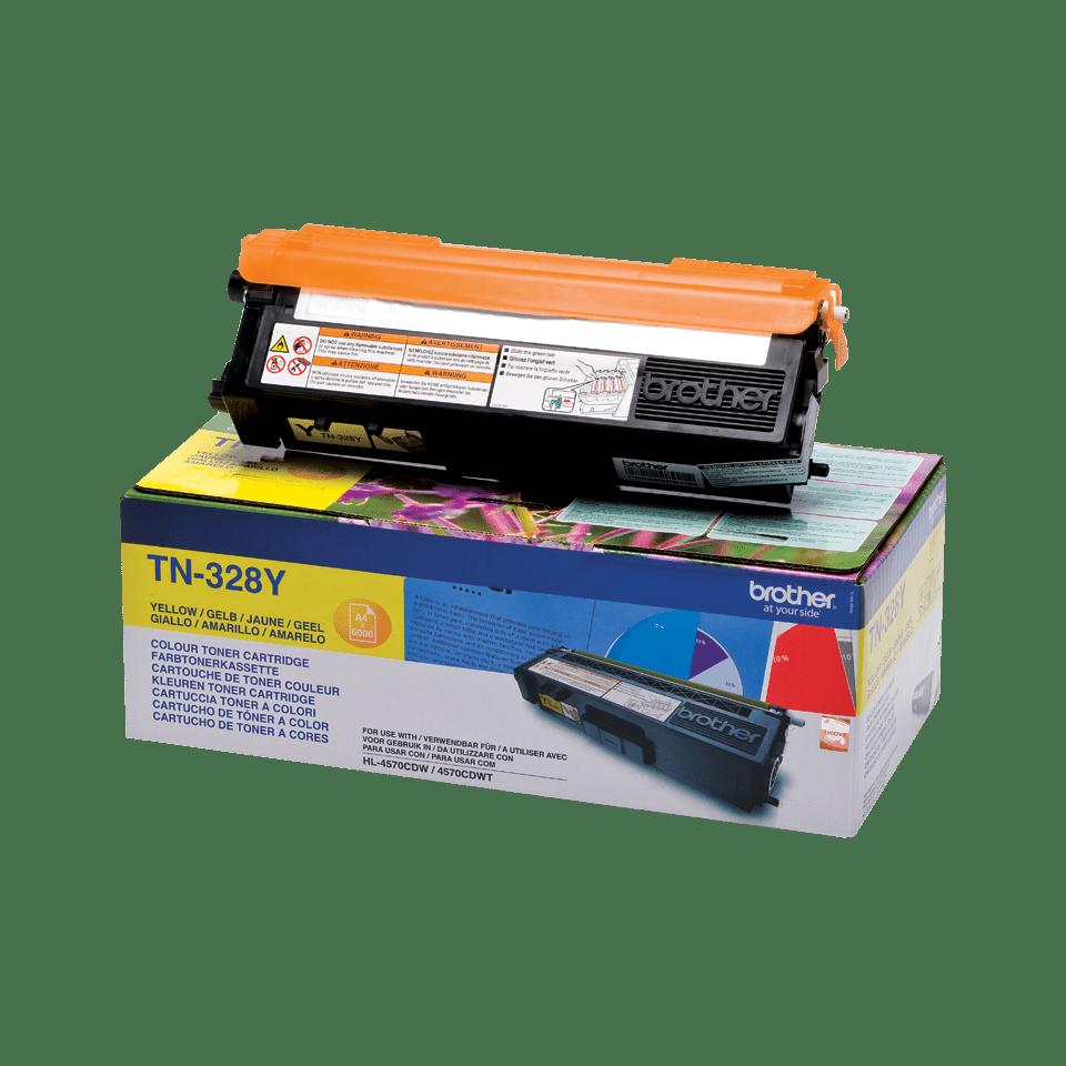 Oriģinālā Brother TN328Y tintes kasetne, dzeltena 2