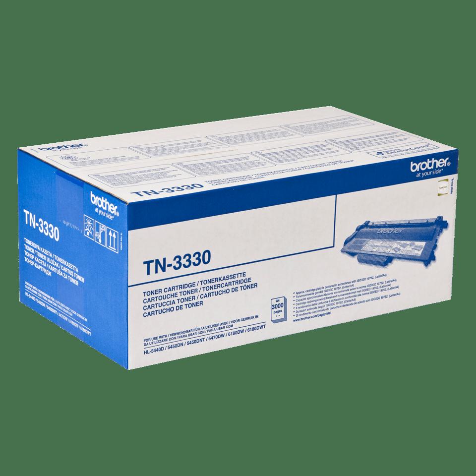 Oriģināla Brother TN3330 tonera kasetne, melna