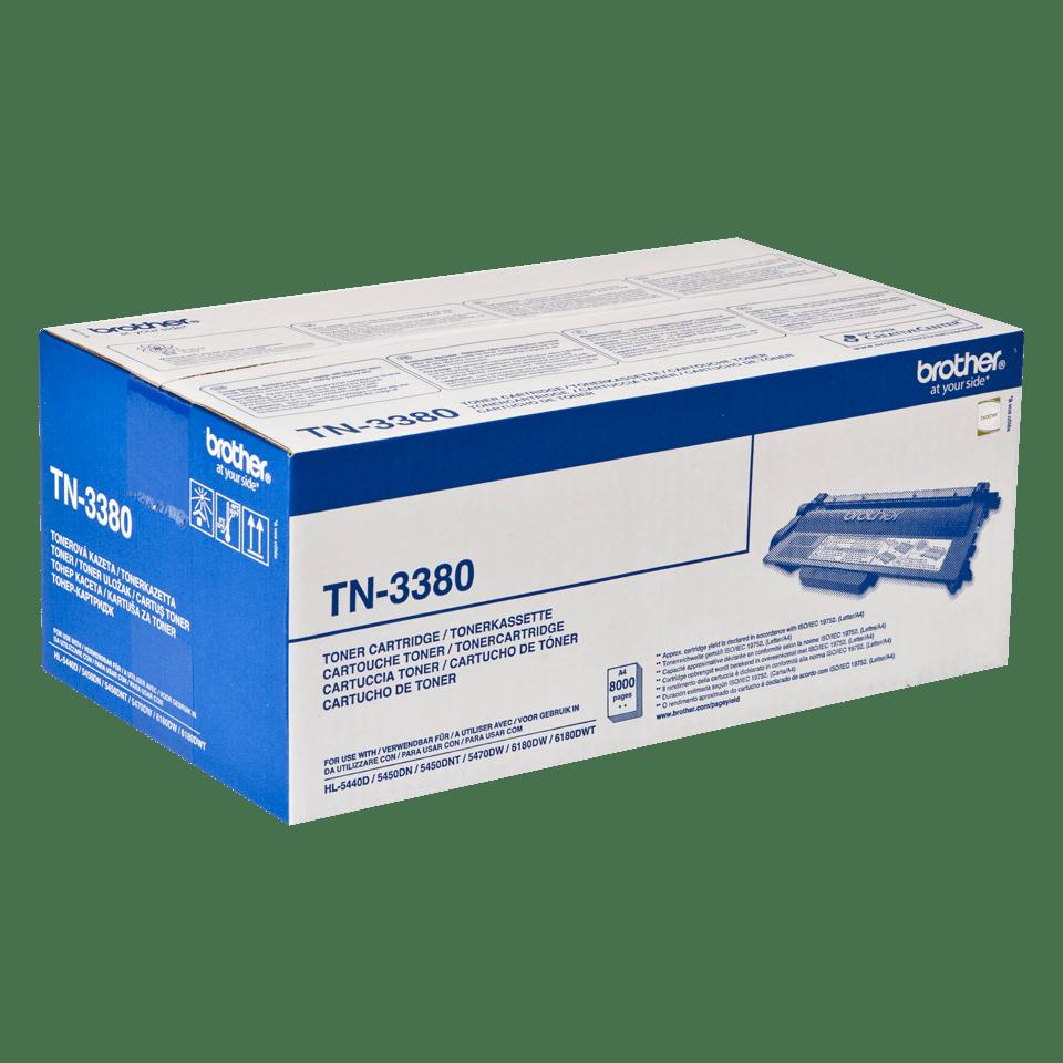 Oriģināla Brother TN-3380 augsta ražīguma tonera kasetne – melna