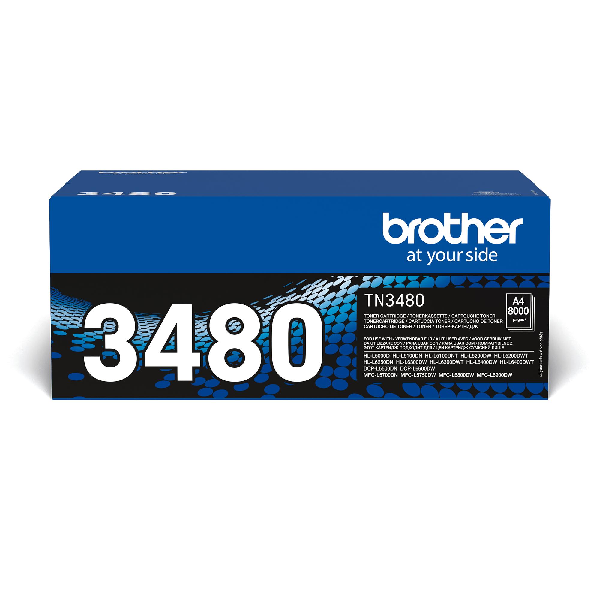 Oriģināla Brother TN-3480 toneru kasetne – melna