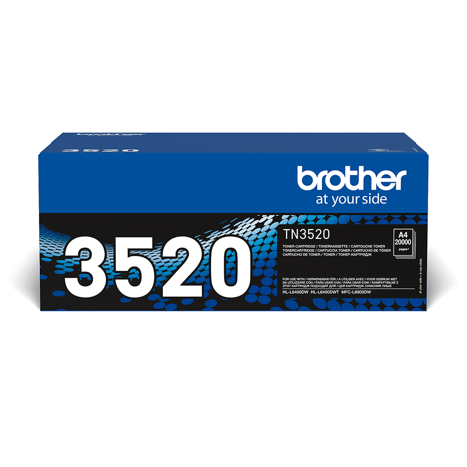 Oriģināla Brother TN3520 augsta ražīguma tonera kasetne - melna