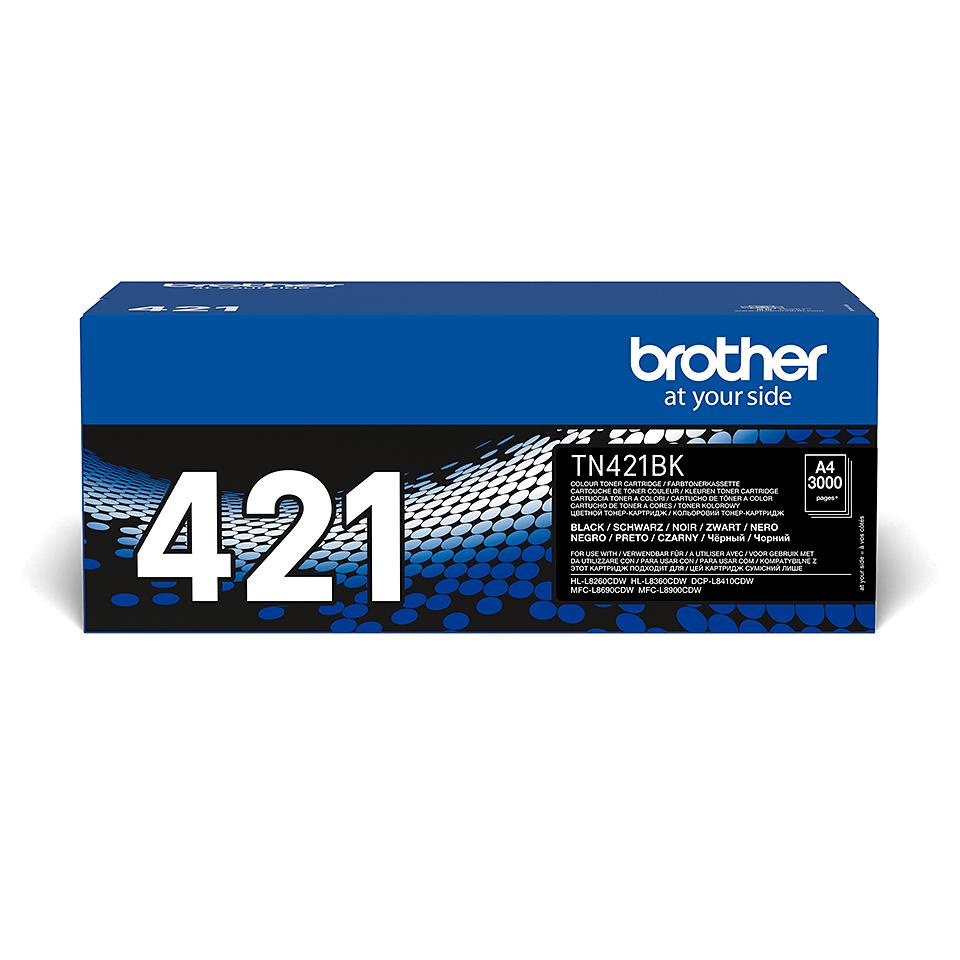 Oriģināla Brother TN-421BK tonera kasetne – melna