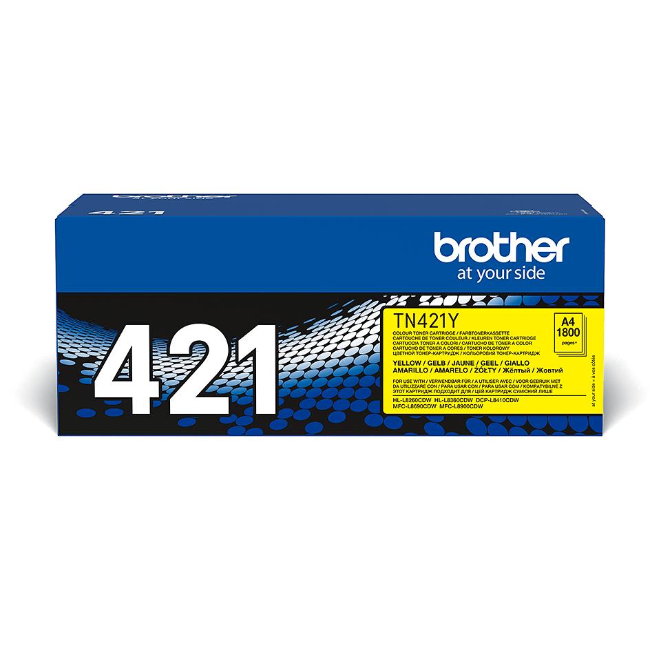 Oriģināla TN-421Y tonera kasetne - dzeltena