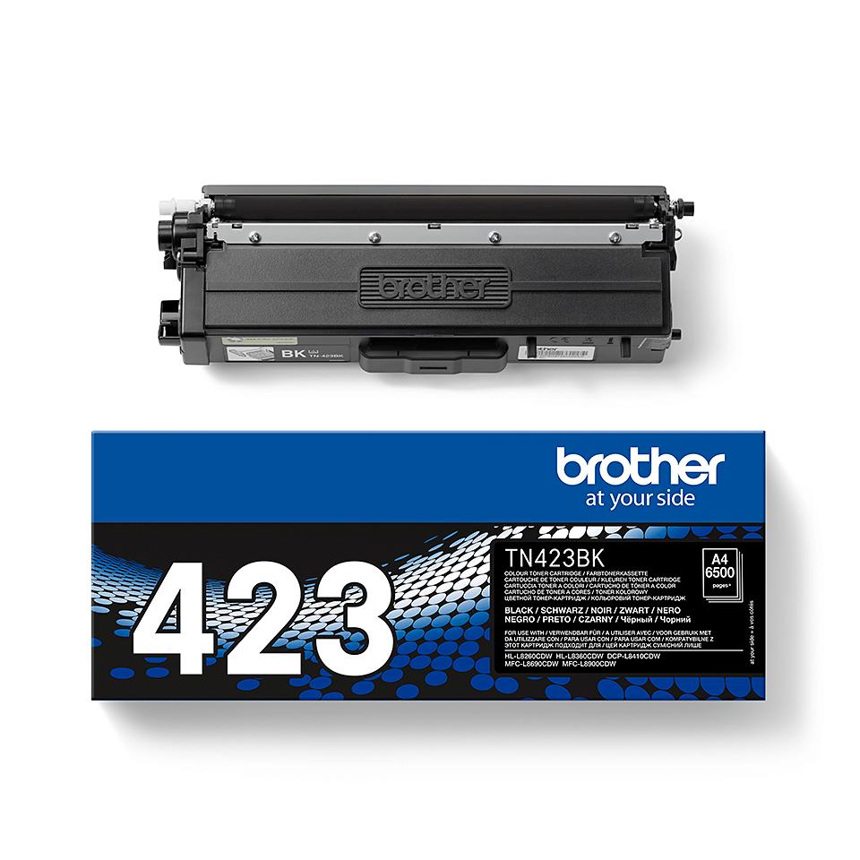 Oriģināla Brother TN423BK tonera kasetne - melna 2