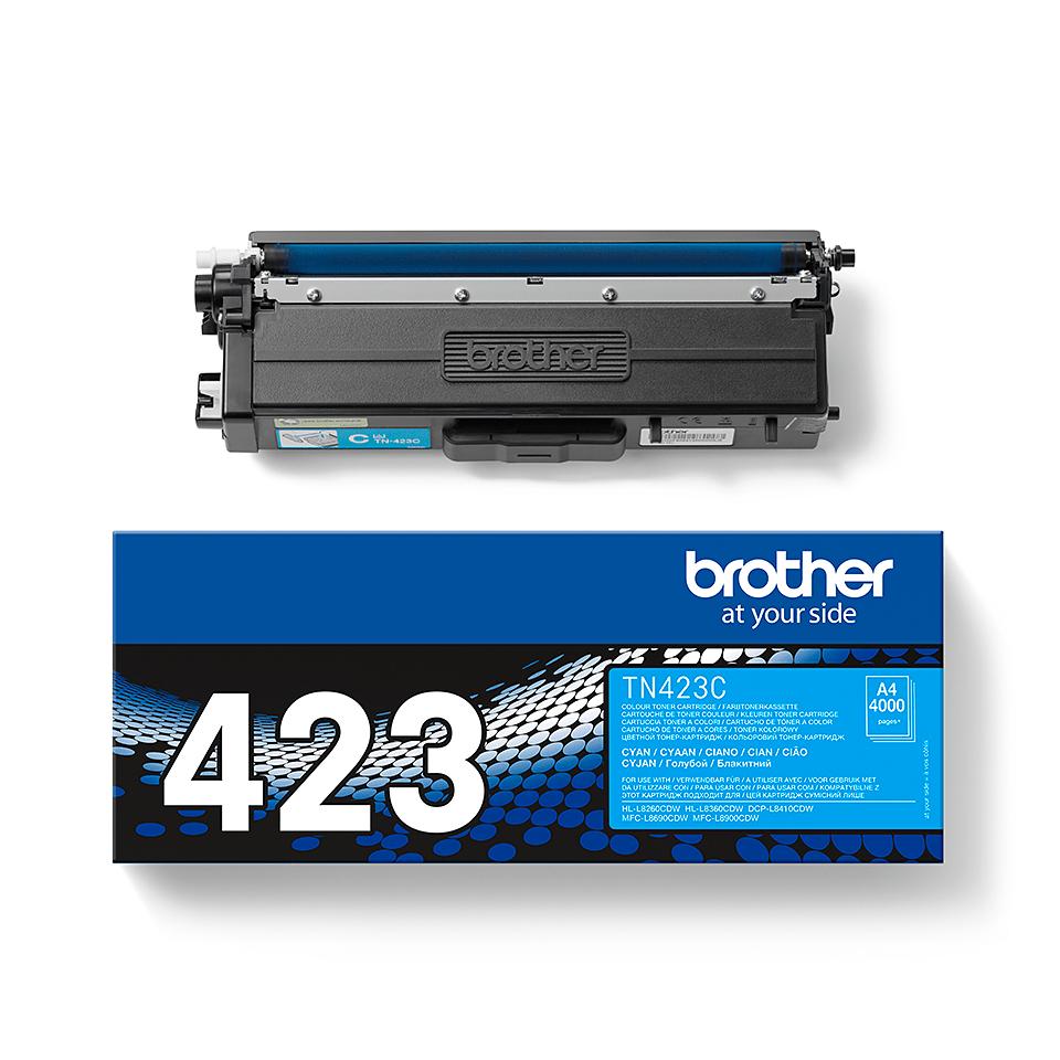 Oriģināla Brother TN423C tonera kasetne - ciāna 2