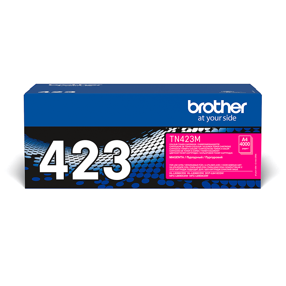 Oriģināla Brother TN423M tonera kasetne - fuksīna