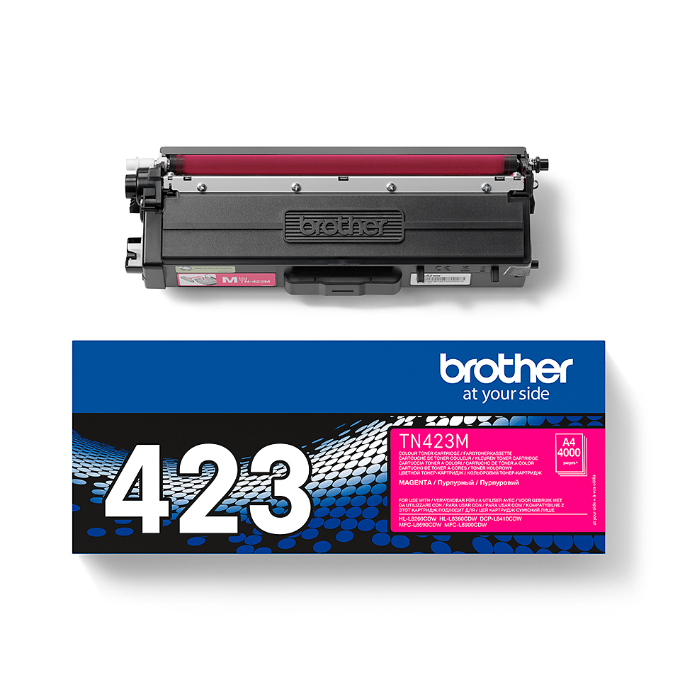 Oriģināla Brother TN423M tonera kasetne - fuksīna 2