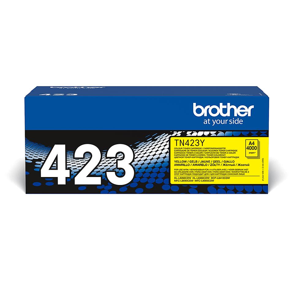Oriģināla Brother TN423Y tonera kasetne - dzeltena