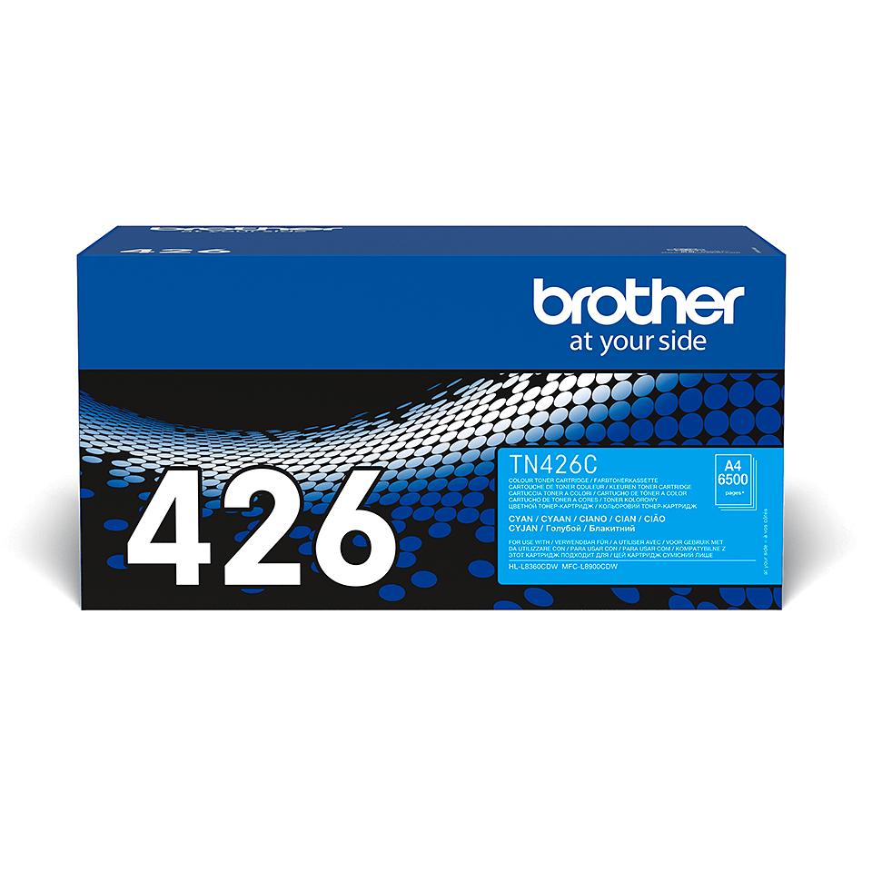 Oriģināla Brother TN426C tonera kasetne - ciāna 2