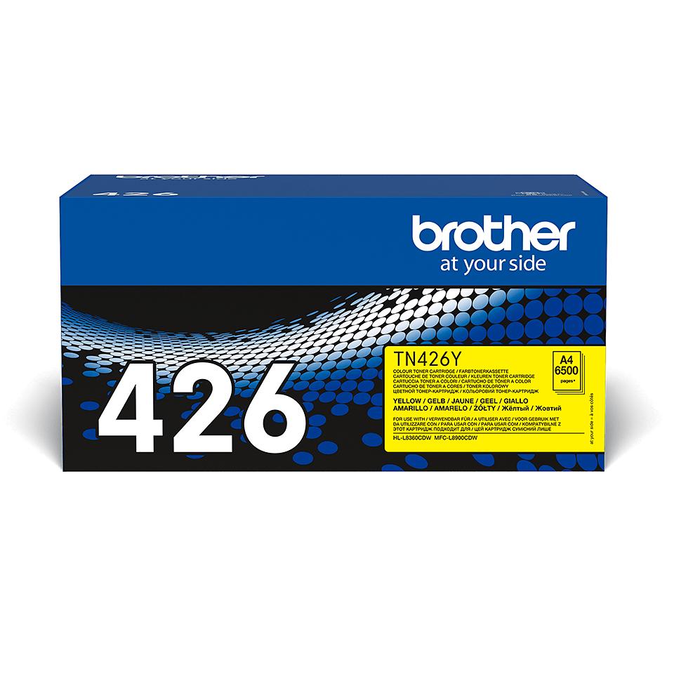 Oriģināla Brother TN426Y tonera kasetne - dzeltena 2