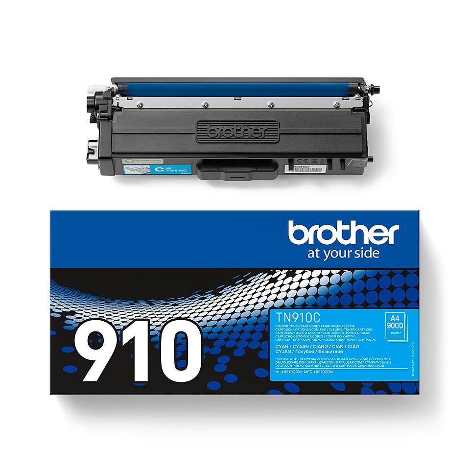 Oriģināla Brother TN910C tonera kasetne - ciāna 2