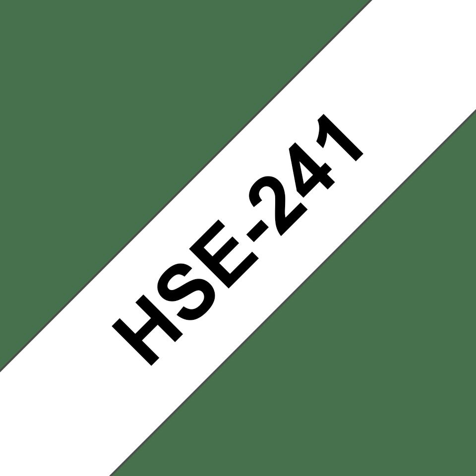 Genuine Brother HSe-241 Heat Shrink Tube Tape Cassette – Black on White, 17.7mm wide 3
