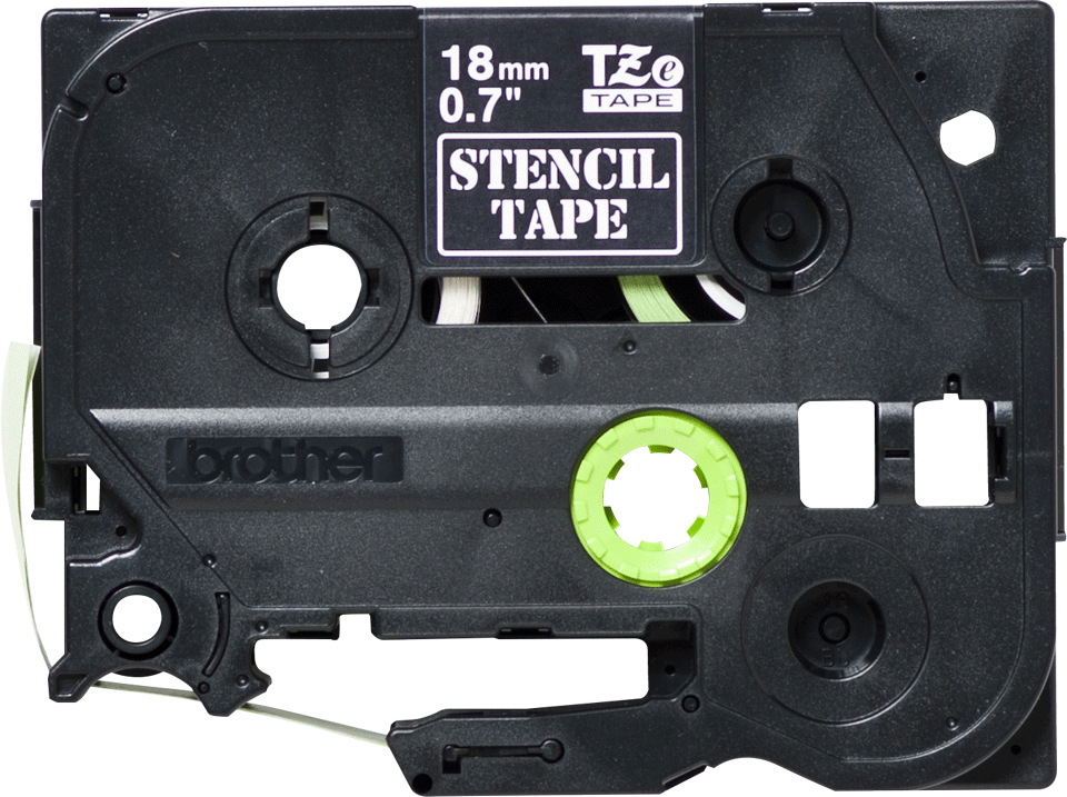 Oriģinālā Brother STe-141 trafareta lentes kasete – melna, 18mm plata 2