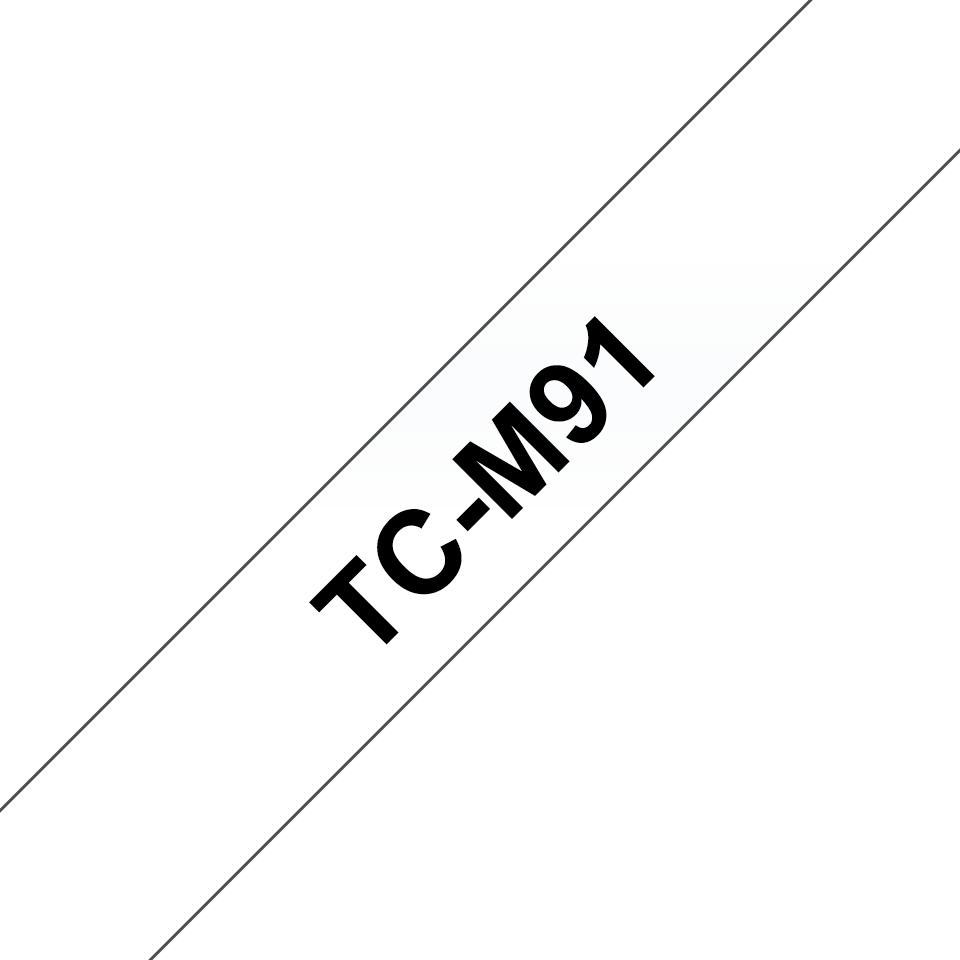 Genuine Brother TC-M91 Labelling Tape Cassette – Black on Clear, 9mm wide