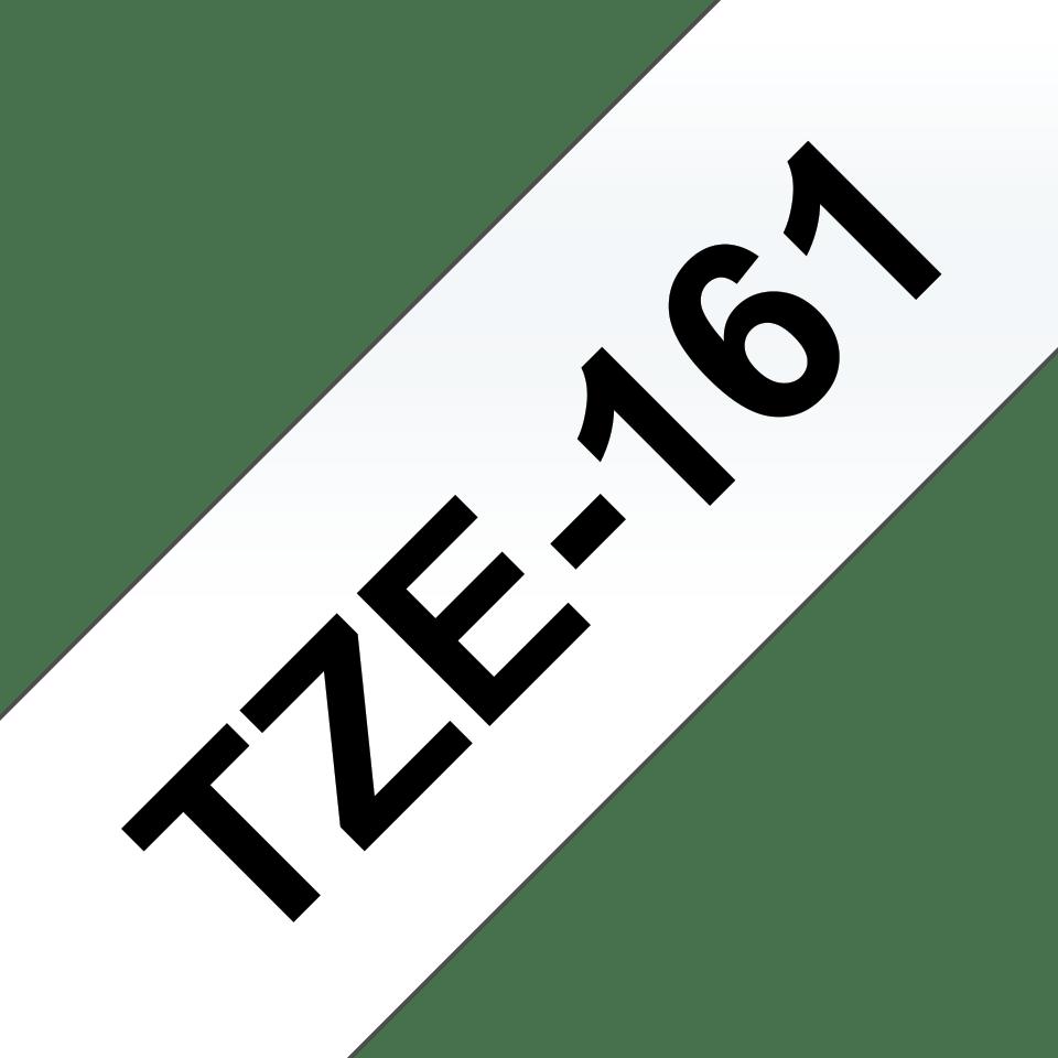 Oriģinālā Brother TZe161 melnas drukas caurspīdīga uzlīmju lentes kasetne, 36mm plata 3