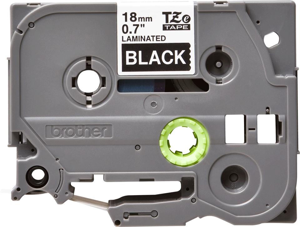 Oriģinālā Brother TZe345 baltas drukas melna uzlīmju lentes kasete, 18mm plata 2