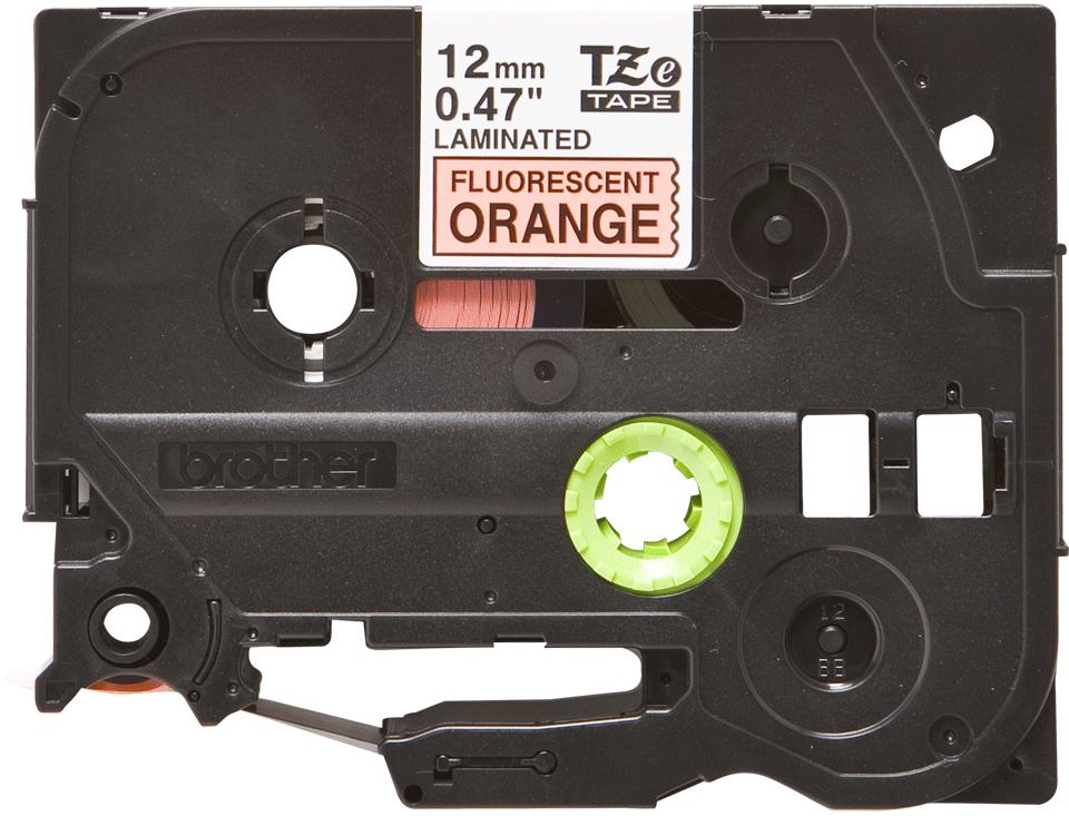 Oriģināla Brother TZe-B31 uzlīmju lentas kasete – fluorescējošas drukas, oranža, 12mm plata