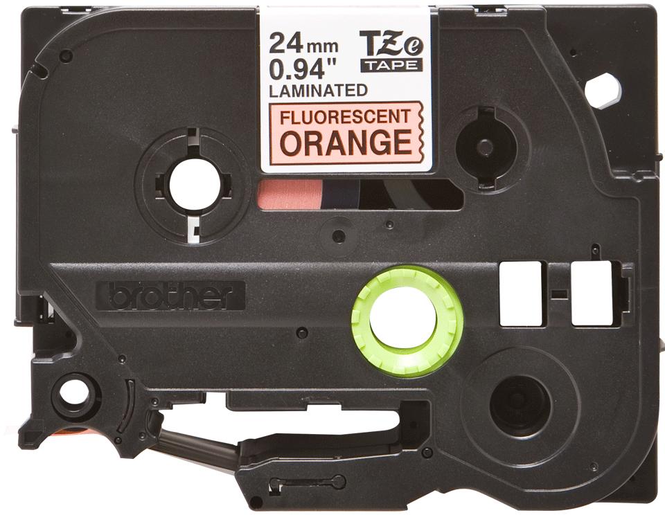 Genuine Brother TZe-B51 Labelling Tape Cassette – Fluorescent Orange, 24mm wide